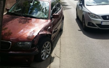Accident langa Crisul: BMW vs VW! Circulatia tramvaielor blocata pana la gara (FOTO)