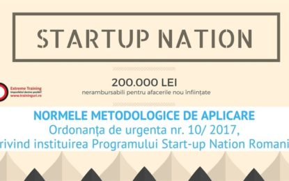 Start la Start-Up Nation: 15 iunie, ora 10!
